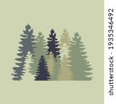 the shadow of tree on forest... | Shutterstock .eps vector #1935346492