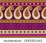 seamless asian paisley pattern... | Shutterstock .eps vector #1935351142