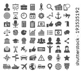 64 universal icons. business ... | Shutterstock .eps vector #193535192