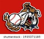 bulldog baseball team mascot...   Shutterstock .eps vector #1935371185