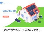 installation of solar panels by ... | Shutterstock .eps vector #1935371458