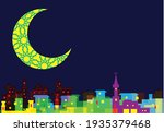a  ramadan crescent moon over... | Shutterstock .eps vector #1935379468
