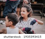 young asian sibling on red...   Shutterstock . vector #1935393415