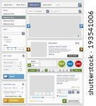 web design elements set. online ... | Shutterstock . vector #193541006
