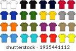 multicolor basic tee shirt... | Shutterstock .eps vector #1935441112