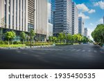 Cityscape Office Buildings With ...
