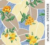 yellow vector flowers with... | Shutterstock .eps vector #1935450838