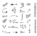 vector set of hand drawn arrows ... | Shutterstock .eps vector #1935458812