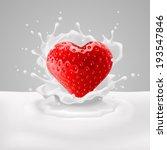 appetizing strawberry heart in... | Shutterstock .eps vector #193547846