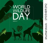 world wildlife day   march 3 | Shutterstock .eps vector #1935489292