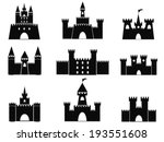 black castle icons | Shutterstock .eps vector #193551608