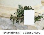 blank greeting card mockup.... | Shutterstock . vector #1935527692
