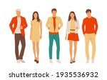 set of young men and women ... | Shutterstock .eps vector #1935536932