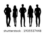 vector silhouettes of  men and... | Shutterstock .eps vector #1935537448