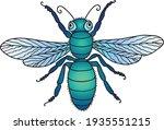 vector drawing of green... | Shutterstock .eps vector #1935551215