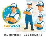friendly carwash mascot design... | Shutterstock .eps vector #1935553648