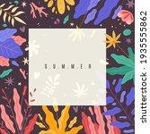 modern plants frame. spring...   Shutterstock .eps vector #1935555862