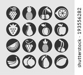 fruit icons for web   Shutterstock .eps vector #193556282