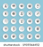 education vector icons on round ...