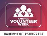 national volunteer week.... | Shutterstock .eps vector #1935571648