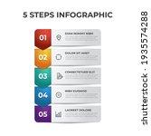 5 points of steps  list diagram ... | Shutterstock .eps vector #1935574288