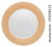 Empty Dinner Plate With Orange...