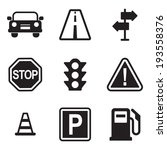 traffic icons | Shutterstock .eps vector #193558376