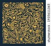 online doodle courses. hand... | Shutterstock .eps vector #1935611365