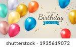 happy party birthday background ... | Shutterstock .eps vector #1935619072