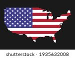 usa map silhouette with flag on ... | Shutterstock .eps vector #1935632008