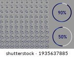 set of circle percentage...