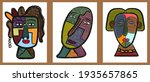set of abstract face painting.... | Shutterstock .eps vector #1935657865