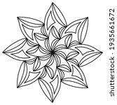 easy mandala like flower or... | Shutterstock .eps vector #1935661672