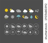 Weather Flat Vector Icons Set....