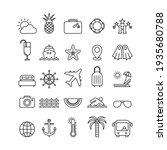 marine flat vector icons set.... | Shutterstock .eps vector #1935680788