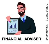financial advisor holding a...   Shutterstock .eps vector #1935719872