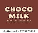 vector tasty emblem choco milk. ... | Shutterstock .eps vector #1935726865
