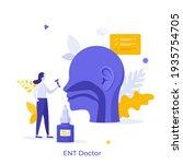 otorhinolaryngologist ... | Shutterstock .eps vector #1935754705