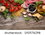 italian food ingredients on... | Shutterstock . vector #193576298