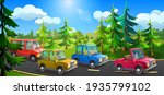 track with moving cars of... | Shutterstock .eps vector #1935799102