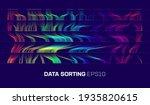 data sorting cascade background.... | Shutterstock .eps vector #1935820615