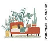 scandinavian cozy detailed boho ... | Shutterstock .eps vector #1935826405