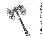 an axe. can be used as a sketch ... | Shutterstock .eps vector #1935831475