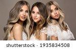 Three beautiful girls in  white ...