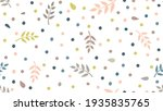 floral pattern with  leaves and ... | Shutterstock .eps vector #1935835765