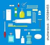 hygienic set of flat vector...   Shutterstock .eps vector #193584455