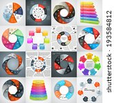 vector circle infographics set. ... | Shutterstock .eps vector #193584812