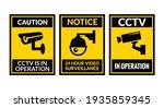 cctv camera icon vector...   Shutterstock .eps vector #1935859345