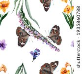 seamless botanical pattern of... | Shutterstock . vector #1935860788