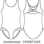 Cute Toddler Girls Swimsuit...